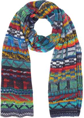 Missoni Wool Blend Knit Men's Long Scarf