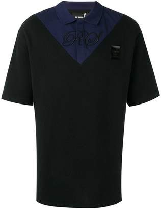 Buttoned Down Fred Perry X Raf Simons Fred Perry x Raf Simons two tone polo shirt black