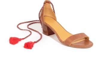 Sezane Lorenzo Ankle Wrap Block Heel Sandal
