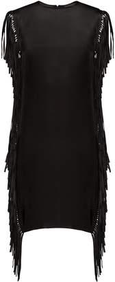 Raey Fringed silk dress