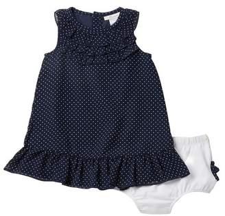 Miniclasix Polka Dot Dress & Bloomer Set (Baby Girls)