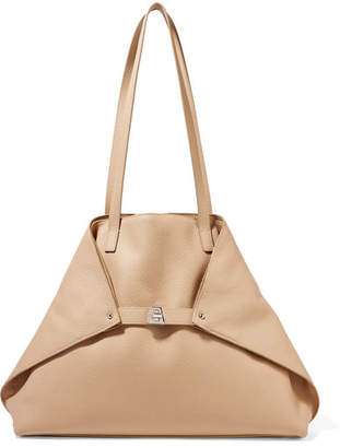 Akris Ai Medium Textured-leather Shoulder Bag - Beige