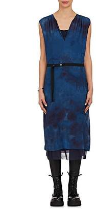 Pas De Calais Women's Tie-Dyed Wool-Silk Belted Dress