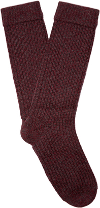 PEPPER & MAYNE Ribbed-knit cashmere socks $83 thestylecure.com