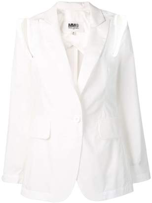 MM6 MAISON MARGIELA shoulder cut out blazer