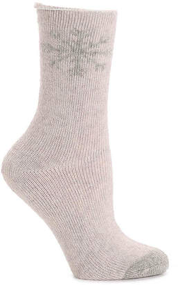 Lemon Snowflake Crew Socks - Women's