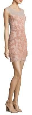 Parker Black Montclair Beaded Mini Dress