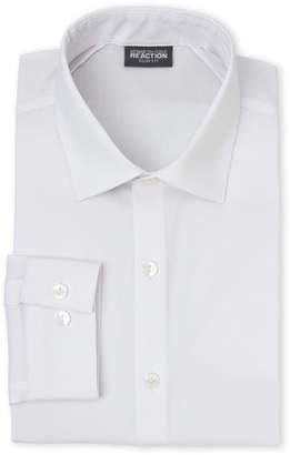 Kenneth Cole Reaction White Stretch Slim Fit Dress Shirt
