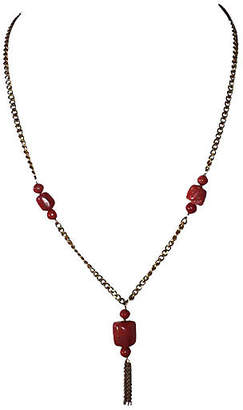 One Kings Lane Vintage Red Coral Bead Necklace - Treasure Trove NYC