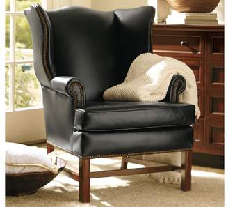 Pottery Barn Thatcher Leather Wingback Chair