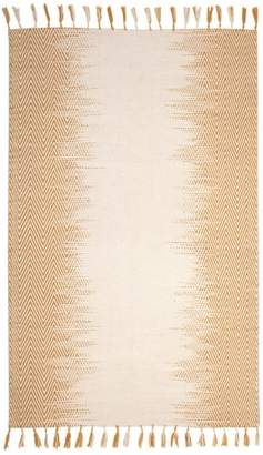 Pottery Barn Teen Lola Ombre Rug, 8x10, Yellow/Ivory