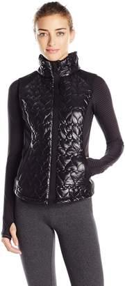 Betsey Johnson Women's Quilted Neoprene Hybrid Vest