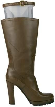Prada Brown Plastic Boots