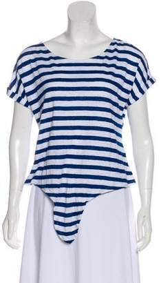 Frame Striped Linen Top