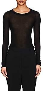 Rick Owens Women's Gossamer Cotton Long-Sleeve T-Shirt-Black