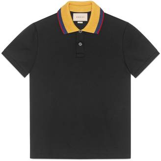 Cotton polo with embroidery $980 thestylecure.com