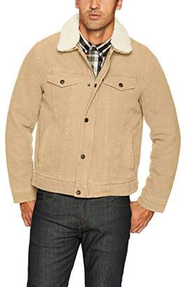 Levi's Men's Cotton Canvas Tucker Jacket with Sherpa Collar