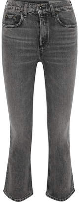 Rag & Bone Hana Cropped High-rise Bootcut Jeans - Dark denim