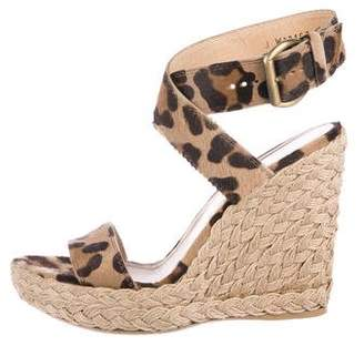 Stuart Weitzman Woven Wrap-Around Wedge Sandals