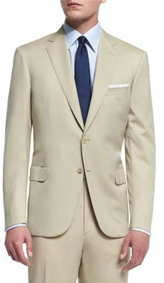 Brioni Colosseo Solid Two-Piece Wool Suit, Tan $6,325 thestylecure.com