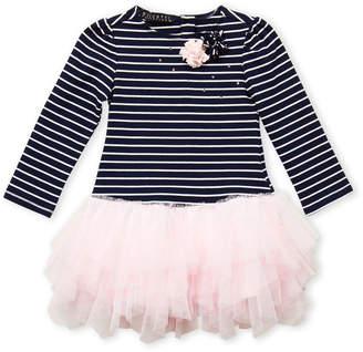 Biscotti Toddler Girls) Striped Long Sleeve Tutu Dress