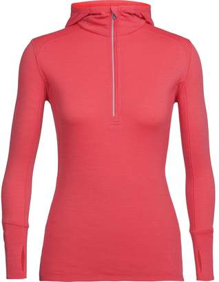 Icebreaker Rush 1/2-Zip Hooded Top - Women's