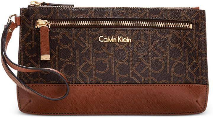 Calvin KleinCalvin Klein Signature Monogram Wristlet