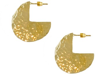 Artisan & Fox Maua Gold Disk Earrings