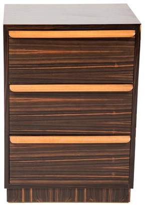 Zebrawood Bedside Chest of Drawers