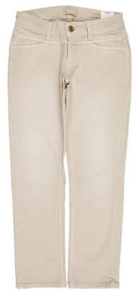 Closed Low-Rise Straight-Leg Pants w/ Tags Beige Low-Rise Straight-Leg Pants w/ Tags