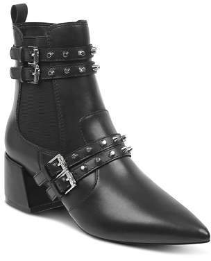 KENDALL + KYLIE Women's Rad Pointed Toe Leather Booties