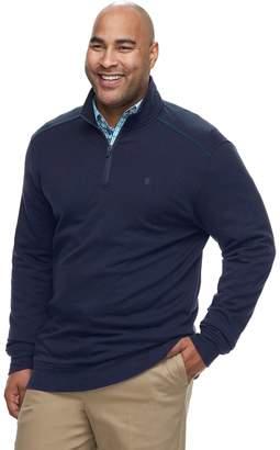 Izod Big & Tall Advantage SportFlex Classic-Fit Performance Stretch Fleece Quarter-Zip Pullover