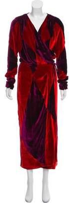 ATTICO Velvet Wrap Dress