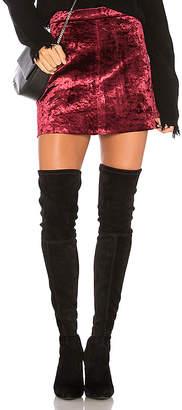 Blank NYC BLANKNYC Velvet Mini Skirt