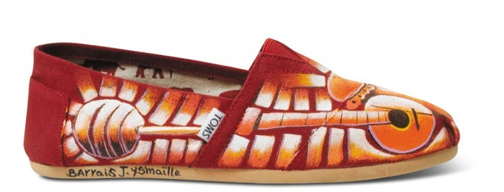 Toms Red Yamaillo's Guitar Haiti Artist Collective Women's Classics
