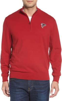 ... Cutter   Buck Atlanta Falcons - Lakemont Regular Fit Quarter Zip Sweater 23e3e682d