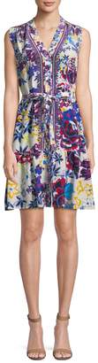 Saloni LONDON Women's Tilly Floral A-line Dress