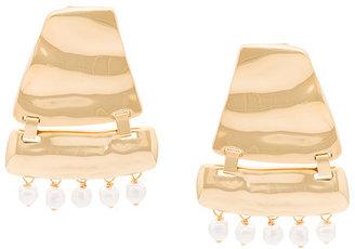 faux-pearl embellished earrings