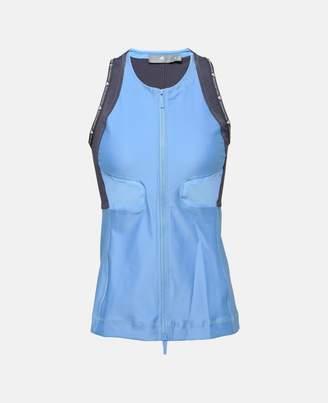 adidas by Stella McCartney Stella McCartney blue zipped running tank