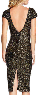 Dress the Population Marcella Cap-Sleeve Sequin Cocktail Dress