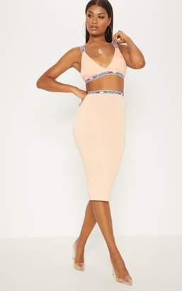PrettyLittleThing Tangerine Midi Skirt