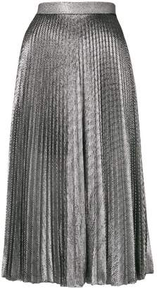 Christopher Kane pleated lamé mesh skirt