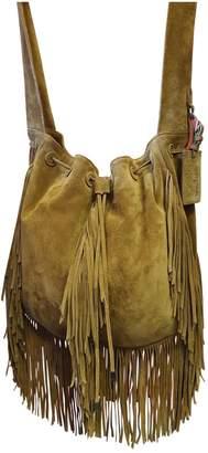 Ralph Lauren Camel Suede Handbag