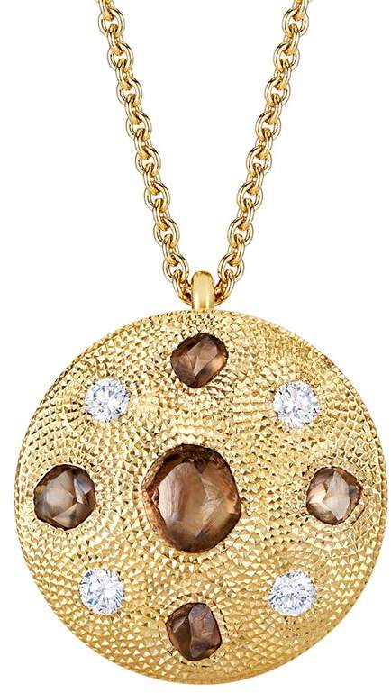 Small Yellow Gold Talisman Medal Necklace