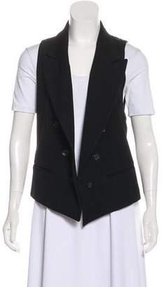 Ann Demeulemeester Peak-Lapel Button-Up Vest