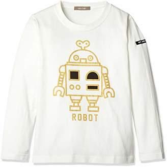 nico hrat (ニコ フラート) - [ニコフラート] ロボットロングTシャツ 280265 ボーイズ オフホワイト 日本 90 (日本サイズ90 相当)