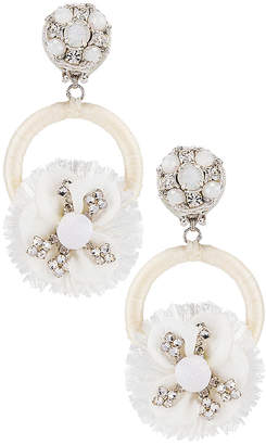 Ranjana Khan Crystal Flower Earring