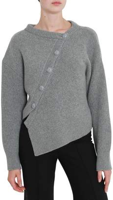 Cédric Charlier Asymmetric Buttons Sweater
