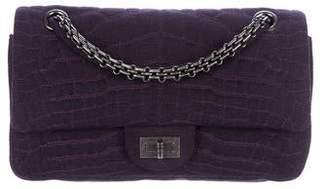 Chanel Jersey Croc Reissue 225 Flap Bag