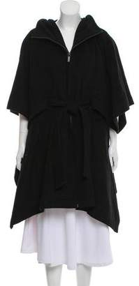 Kai-aakmann Belted Wool Poncho